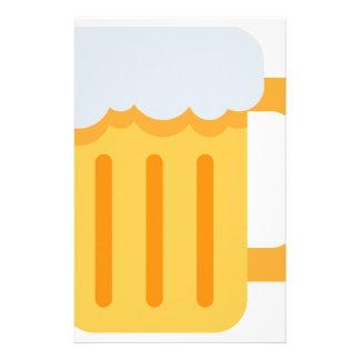 Beer time emoji briefpapier
