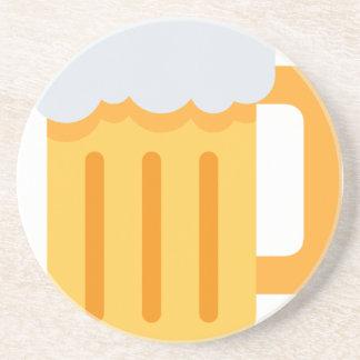 Beer time emoji getränkeuntersetzer
