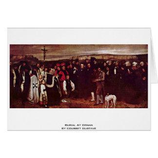 Beerdigung bei Ornan durch Courbet Gustave Grußkarte