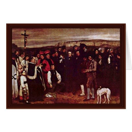 Beerdigung bei Ornan durch Courbet Gustave Karte