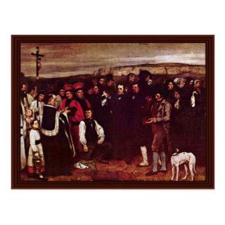Beerdigung bei Ornan durch Courbet Gustave Postkarten