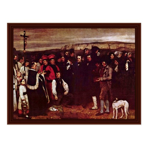 Beerdigung bei Ornan durch Courbet Gustave Postkarte