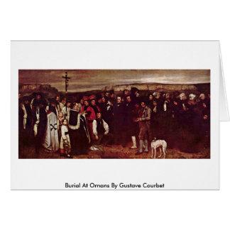 Beerdigung bei Ornans durch Gustave Courbet Grußkarte