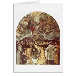 Beerdigung der Zählung Orgaz durch El Greco Grußkarte