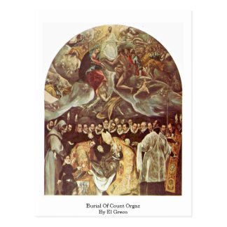 Beerdigung der Zählung Orgaz durch El Greco Postkarten