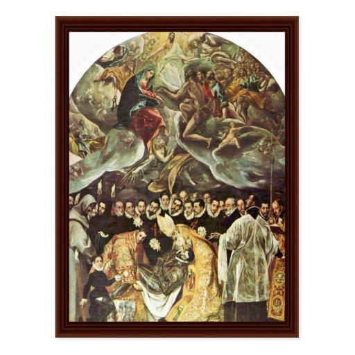 Beerdigung der Zählung Orgaz durch Greco EL Postkarte