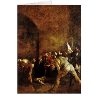 Beerdigung des Heiligen Lucy durch Caravaggio Grußkarte