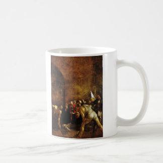 Beerdigung des Heiligen Lucy durch Caravaggio Kaffeetasse