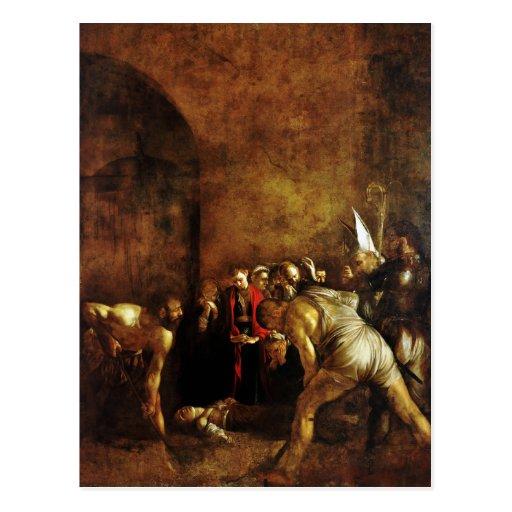 Beerdigung des Heiligen Lucy durch Caravaggio Postkarte