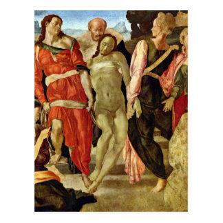 Beerdigung durch Michelangelo Postkarte