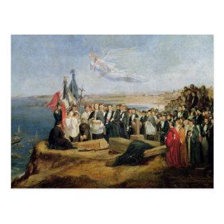 Beerdigung Vicomte de Chateaubriand Postkarte