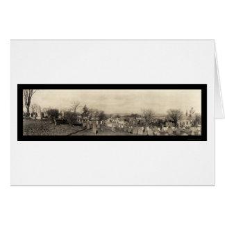 Beerdigungs-Hügel-Foto 1910 Plymouths MA Grußkarte