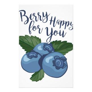 Beere glücklich briefpapier