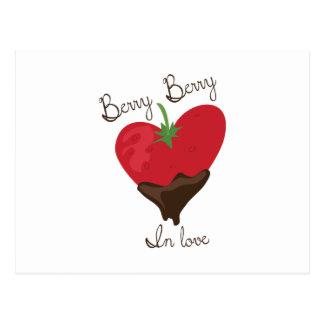 Beere in der Liebe Postkarte