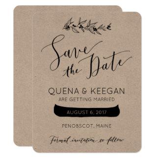 Beere und Kanu Save the Date Karte