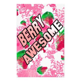 Beeren-fantastische fruchtige Erdbeeren Briefpapier