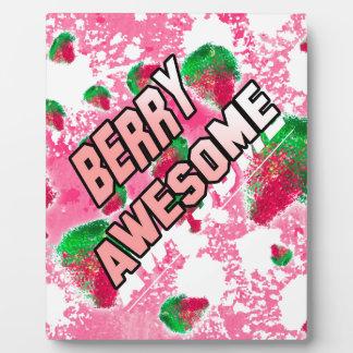 Beeren-fantastische fruchtige Erdbeeren Fotoplatte
