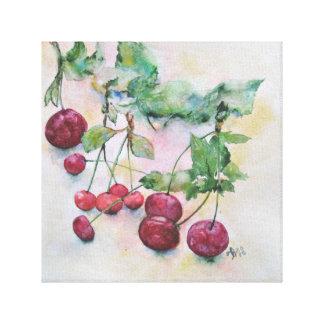 Beeren. Kirschen und Kirsche Leinwanddruck