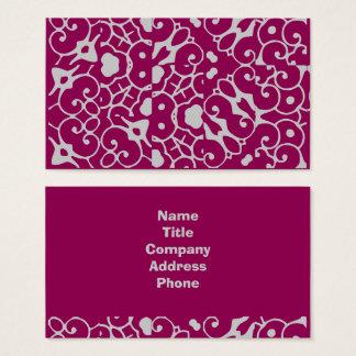 Beeren-Muster-kundenspezifischer Text verfeinert Visitenkarte