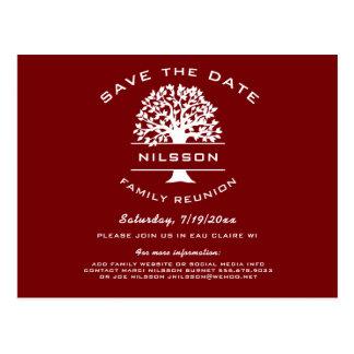 Beeren-rotes Stammbaum-Wiedersehen Save the Date Postkarte