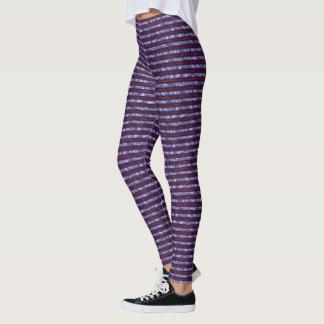 Beeren-Spritzen Striped Leggings