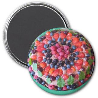 Beeren-Torten-Nachtisch-Kühlschrank-Magnet Runder Magnet 7,6 Cm