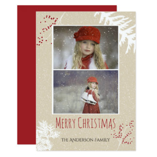 Beeren-Weihnachten 12,7 X 17,8 Cm Einladungskarte