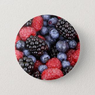 Beerenhintergrund Runder Button 5,1 Cm