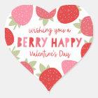 Beereniedlicher Valentine Herz-Aufkleber