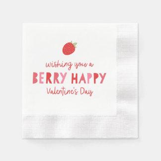 Beereniedlicher Valentine Serviette