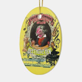 Beethovehen Henne-Tierkomponist-Beethoven-Parodie Keramik Ornament