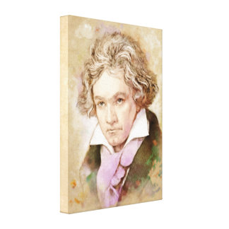 Beethoven auf Leinwand - Watercolor-Art