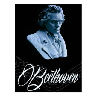 Beethoven durch Mondschein-Postkarte Postkarte