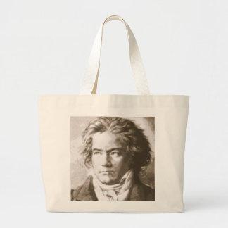 Beethoven im Sepia Jumbo Stoffbeutel