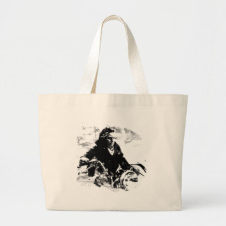 Beethoven-Motorrad-T - Shirt Jumbo Stoffbeutel