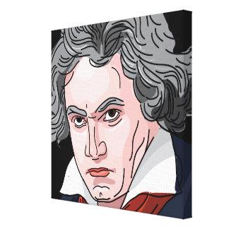 Beethoven-Porträt-Illustration Leinwanddruck
