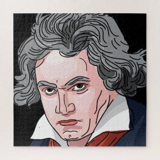 Beethoven-Porträt-Illustration Puzzle