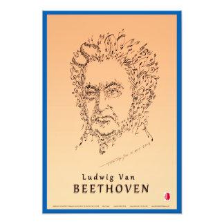 Beethoven stellen die Musik gegenüber Fotodruck