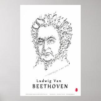 Beethoven stellen die Musik gegenüber Poster