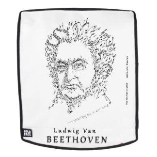 Beethoven stellen die Musik gegenüber Rucksack