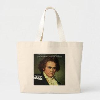 Beethoven u. Dichter/Edelsteine zitieren Jumbo Stoffbeutel