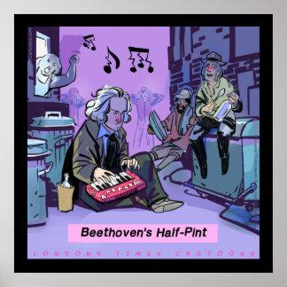 Beethovens halbes Liter-lustiges Plakat durch Rick