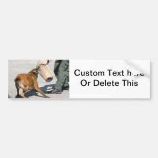 befehligen Sie Armbissmalerei-Hundeeckzahn des Autoaufkleber