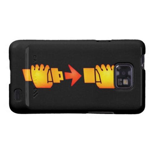 Befestigen Sie Kasten Sicherheitsgurt-Zeichen-Sams Galaxy S2 Case