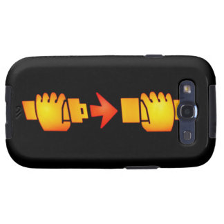 Befestigen Sie Kasten Sicherheitsgurt-Zeichen-Sams Galaxy SIII Etuis