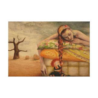 """Befestigt"" acrylic painting by Mayra Melendez Leinwanddruck"