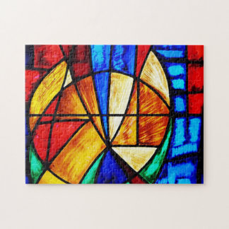 Beflecktes Glas abstrakt Puzzle