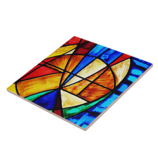 Beflecktes Glas abstrakte 2 Keramikfliese