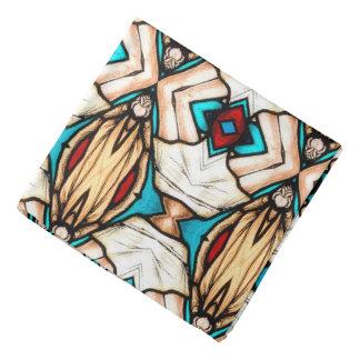 Beflecktes Glas-abstrakter Kunst-Hintergrund Halstuch