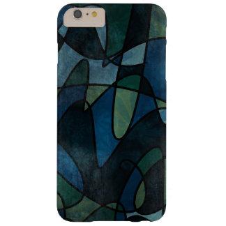 Beflecktes Glas blaues Grün-aquamarines Digital Barely There iPhone 6 Plus Hülle